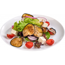 Салат с жаренными баклажанами и фетой