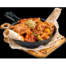 Сковородка из свинины с овощами
